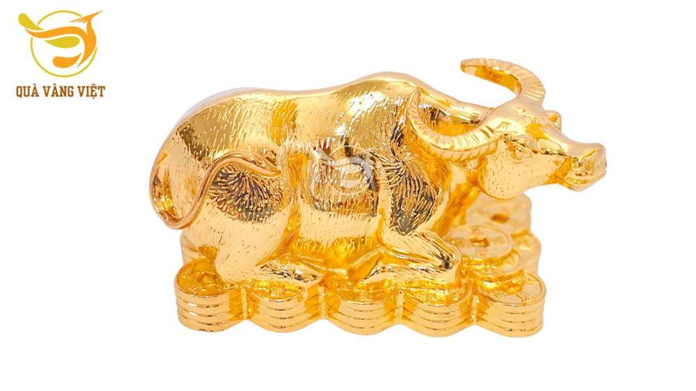 Tượng Trâu Phong Thuỷ Mạ Vàng - Cỡ Vừa